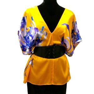 Marciano Silk Tunic Blouse sz L